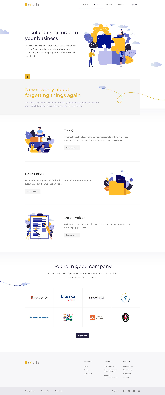 Nevda website design file